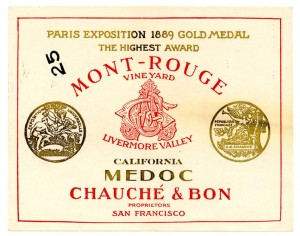 Wine_label_Mont-Rouge_Vineyard_California_Medoc