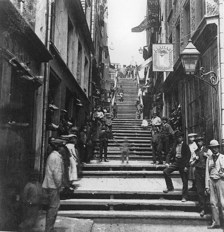 Breakneck_Steps,_Quebec_City,_1870