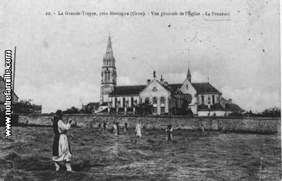 cartes-postales-photos-LA-GRANDE-LA-GRANDE-TRAPPE-Vue-generale-de-l-Eglise-la-Fenaison-MORTAGNE-AU-PERCHE-61400-61-61293023-maxi